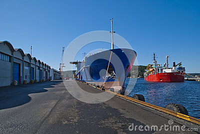 On the quay in the port of halden