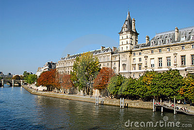 Quay of Seine in Paris