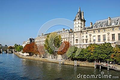 Quay of Seine in Paris