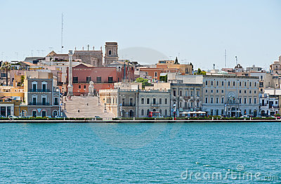 Quay street of Brindisi town,Italy Editorial Photo