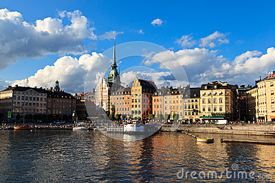 Quay in summer Stockholm Editorial Image