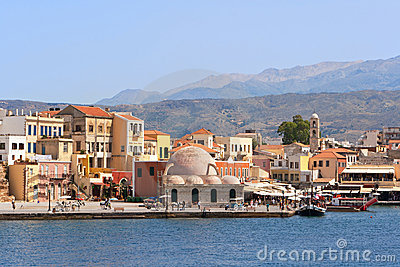Quayside in Chania. Crete, Greece