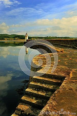 Quayside lighthouse, Ardrishaig, Scotland