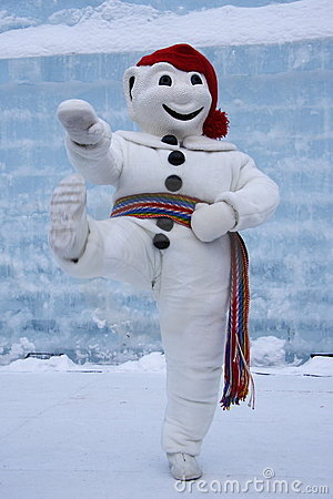 Quebec Carnival: le Bonhomme Editorial Stock Image