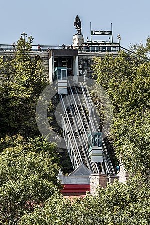 Free QUEBEC CITY, CANADA 13.09.217 Old Funicular Links Upper Town Lower Town Funicular Railway UNESCO World Heritage Site Stock Images - 101435574