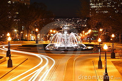 Quebec City night scene