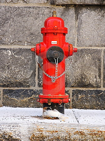 Free Quebec City: Red Fire Hydrant Stock Image - 10112491