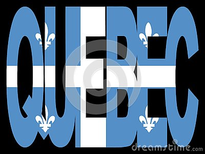 Quebec with flag