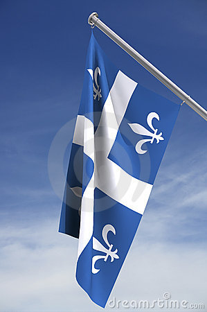 Quebec flag with clipping path