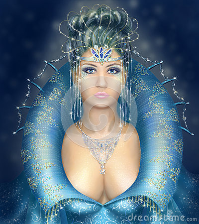 Silver and Blue Fantasy Queen