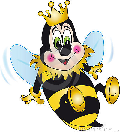 Free Queen Bee Cartoon Royalty Free Stock Photography - 7700017