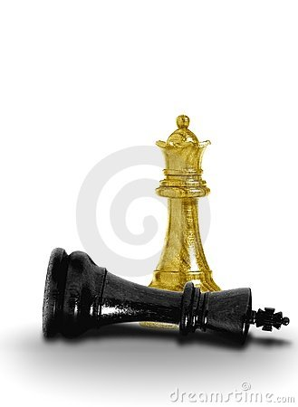 Free Queen Checkmate Royalty Free Stock Photo - 14679145