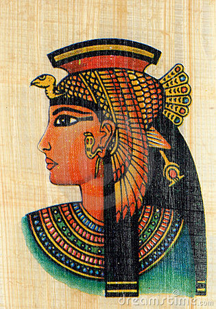 Free Queen Cleopatra On Papyrus Royalty Free Stock Image - 4052746