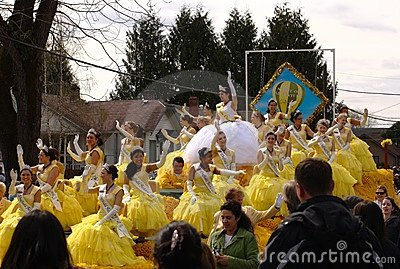 Queen of the Daffodil Parade Editorial Stock Image