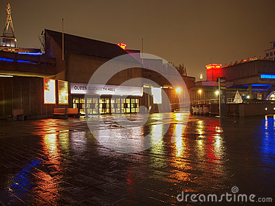 Queen Elizabeth Hall London Editorial Image