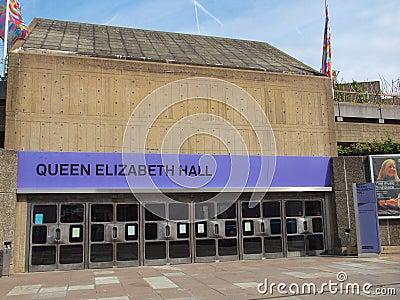 Queen Elizabeth Hall London Editorial Stock Photo