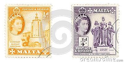 Queen Elizabeth II on Maltese stamps