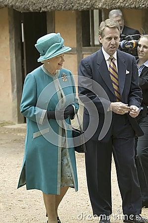 Queen Elizabeth II and Phil Emerson Editorial Photo