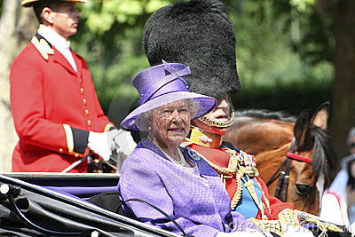 Queen Elizabeth II and Prince Philip Editorial Stock Photo