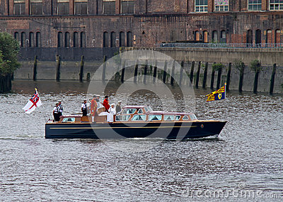 Queen Elizabeth II and the Royal Pageant 2012 Editorial Image