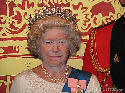 Queen Elizabeth II - wax statue Editorial Image