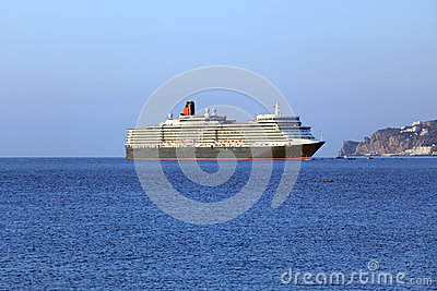 Queen Elizabeth ocean liner in Yalta, Ukraine Editorial Stock Image