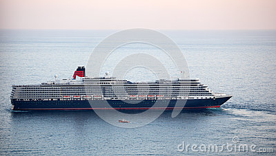 Queen Elizabeth ocean liner in Yalta, Ukraine Editorial Image