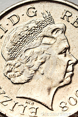 Queen Elizabeth portrait on the coin