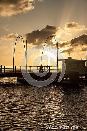 Free Queen Emma Pontoon Bridge Stock Photo - 36394130