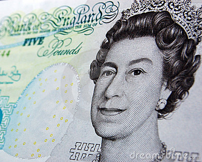 Queen on a fiver Editorial Photo