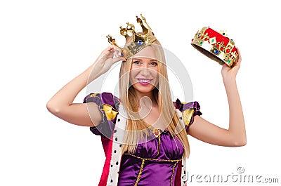 Queen in funny concept