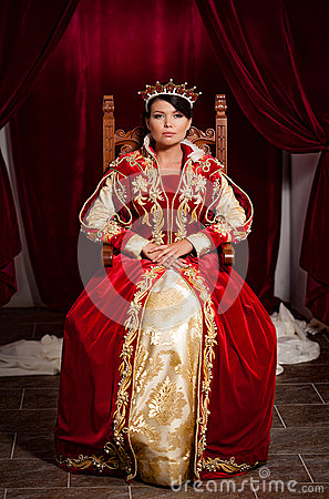 Free Queen In A Medieval Castle Stock Photography - 92039622