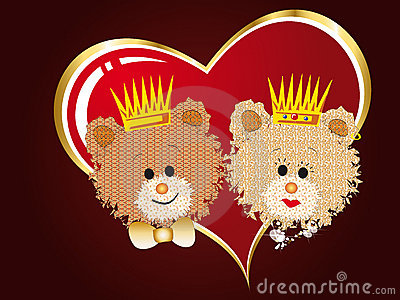 Queen and king bears