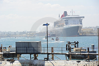 Queen Mary 2 d Editorial Stock Image