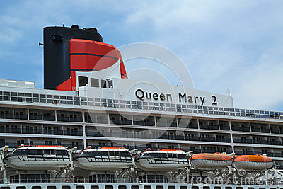 Queen Mary 2 cruise ship details Editorial Stock Photo