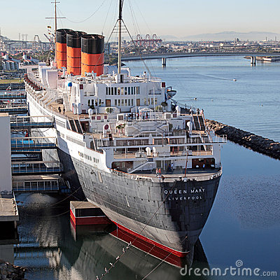 Queen mary Cruise ship in dock Editorial Image