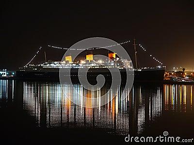 Queen Mary-Nacht Redaktionelles Foto
