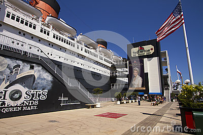 Queen Mary Ocean Cruise Ship Liner Editorial Photo