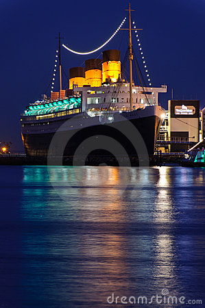 Queen Mary Ocean Liner Editorial Stock Photo