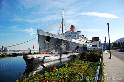 Queen Mary and Russian Scorpion in Long Beach Editorial Photography