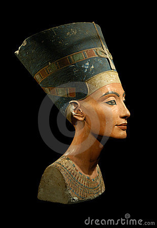 Free Queen Nefertiti Isolated On Black Royalty Free Stock Photo - 6871785