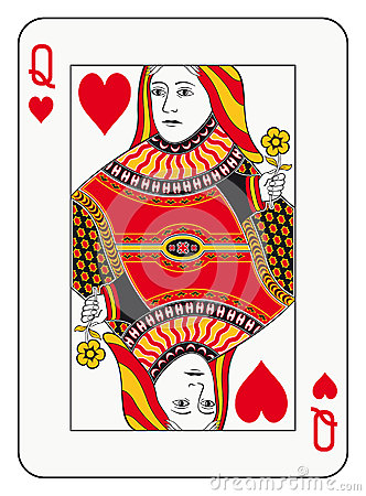 Free Queen Of Hearts Stock Photo - 44512240