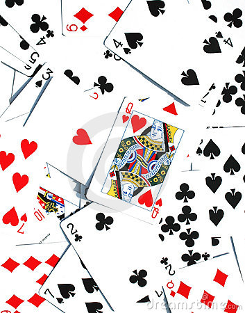 Free Queen Of Hearts - Playing Cards Background Royalty Free Stock Photography - 176137