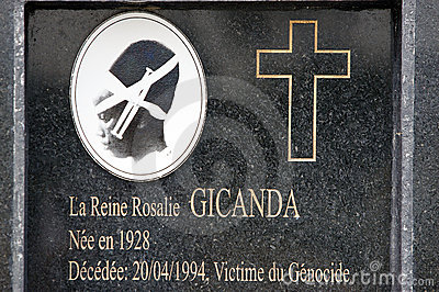 Queen Rosalie Gicanda grave Editorial Photo