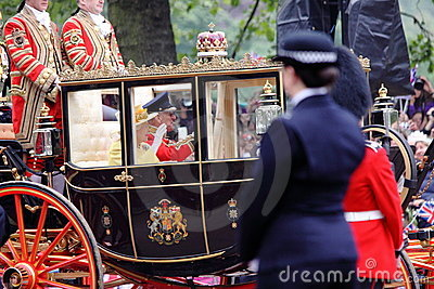 The Queen at Royal Wedding 2011 Editorial Stock Image
