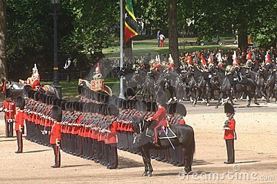 �the Queen�s Birthday Parade�. Editorial Stock Photo