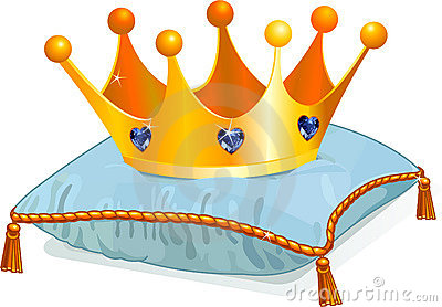 Queen s crown on the pillow