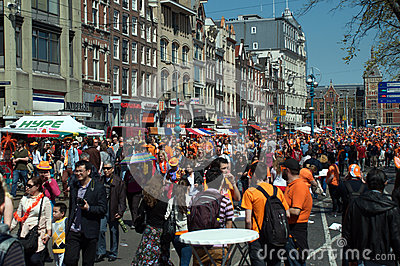 Queen s Day celebrations Editorial Stock Image