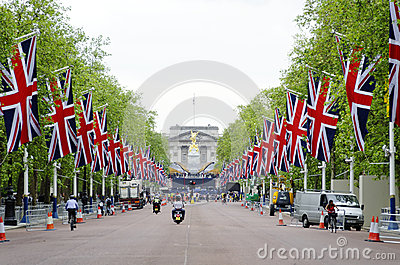 Queen s diamond Jubilee decoration and preparation Editorial Photography