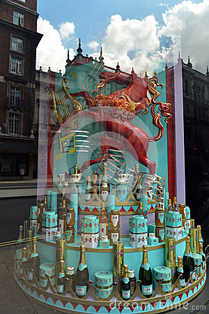 Queen s Diamond Jubilee shop window in London Editorial Stock Photo